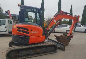 USED 2014 KUBOTA U48-4 EXCAVATOR WITH A/C CABIN AND LOW 2800 HOURS