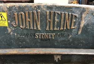 John Heine Sheetmetal Guillotine 108B 8 foot 2450mm 10 Gauge Capacity 3 Phase 415 Volt