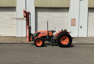 Kubota M8540 tractor with forklift attachment