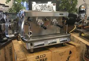 WEGA VELA 2 GROUP HIGH CUP CHROME ESPRESSO COFFEE MACHINE