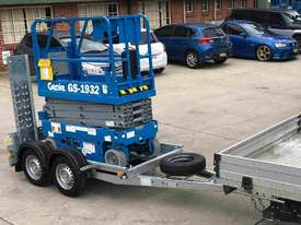 19ft Genie Scissor and Galvanised Trailer - picture2' - Click to enlarge