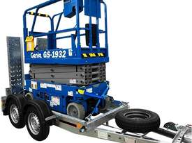 19ft Genie Scissor and Galvanised Trailer - picture0' - Click to enlarge
