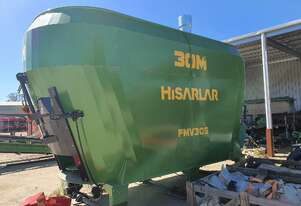 2020 HISARLAR FMV30S ELECTRIC STATIONARY FEED MIXER + CONVEYOR (30.0M3)