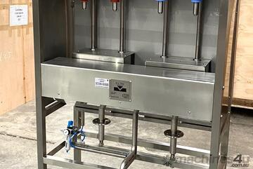 Inline Gravity Filler - 4 head filling machine IN STOCK READY TO GO!