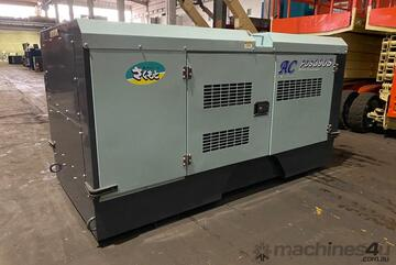 390 CFM Airman Skid Mounted Late Model Aftercooled Screw Compressors Very Low Hours