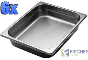 6 PACK OF 1/2 GASTRONORM TRAY 65MM