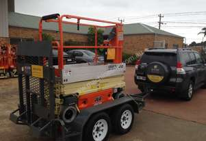 JLG 1930 ES Scissor Lift and Trailer Package