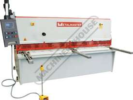 HG-2506 Hydraulic NC Swing Beam Guillotine - Deluxe 2500 x 6mm Mild Steel Shearing Capacity 1-Axis E - picture0' - Click to enlarge
