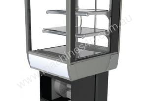 FPG 3C06-SQ-CT-SD-I Refrigerated Square Counter Top Display w/Sliding Glass Door & Integral Condensi