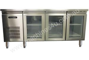Sanden YPC-180GR Three Glass Door Under Bench Fridge - 1800mm
