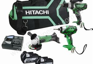 HITACHI KC18DGDL 18V SLIDE 3 PIECE COMBO KIT