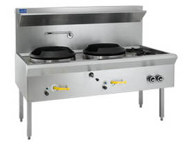 Luus Model WL-2C2B Waterless Wok 2 Chimney & 2 Open Burners - picture0' - Click to enlarge