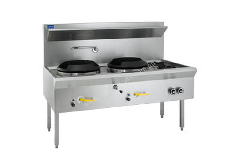 Luus Model WL-2C2B Waterless Wok 2 Chimney & 2 Open Burners