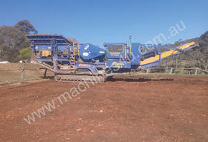 2008 FINTEK 1107 JAW CRUSHER WITH OVERHEAD MAGNET