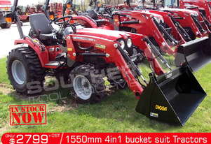 1550mm 4 in 1 Bucket suit Tractor Front End Loader ATT4IN1