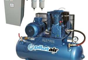 K30 Industrial Air Compressor & Refrigerated Air Dryer Package Deal 200 Litre / 7.5hp 30.8cfm / 871.