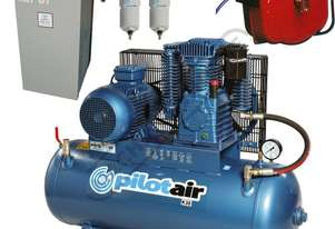 K30 Industrial Pilot Air Compressor, Refrigerated Air Dryer & Air Hose Reel Package Deal 200 Litre /
