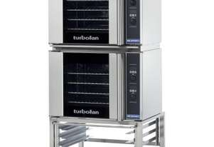 Turbofan E31D4/2C - Half Size Tray Digital Electric Convection Ovens Double Stacked With Castor Base
