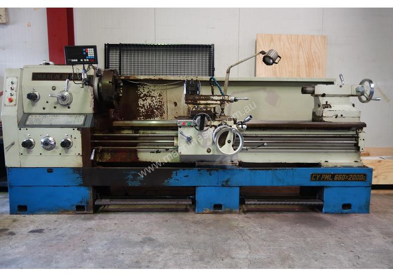 Metal Lathe 660x2000mm, 105mm Spindle Bore