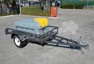 Diesel Fuel Trailer 800L Diesel fuel tank Lockable with 12V pump TFPOLYDT