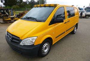 2011 Mercedes Benz Vito Van Fitted Out With Toolbox & Compressor - In Auction