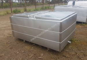 STAINLESS STEEL TANK, MILK VAT 1850 LT