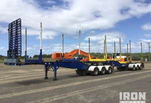 2014 Barker Tri/A B-Double Combination Skel Log Trailer