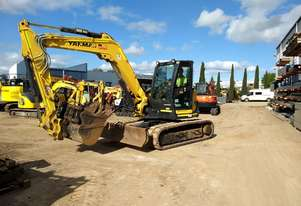 2017 YANMAR SV100-2 EXCAVATOR WITH RUBBER TRACKS AND 1650 HOURS