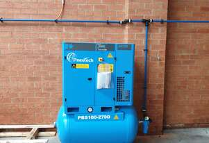 Small/Medium Workshop 10hp Rotary Screw Air Compressor - 10,000 hour or 5 year warranty