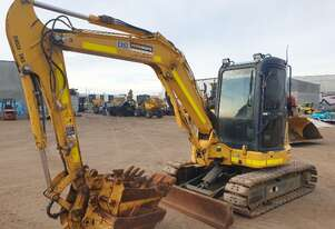 KOMATSU PC55MR-3 5.5T EXCAVATOR WITH A/C CABIN, HITCH, BUCKETS AND LOW 1608 HOURS
