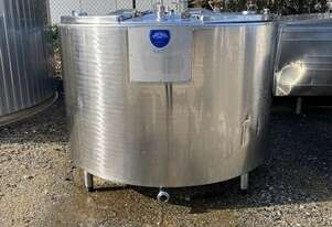 1,550ltr Jacketed Stainless Steel Tank