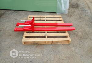 HEAVY DUTY CLAMP ON BUCKET FORKS BFT2000 (UNUSED)