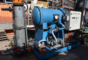 Oil filtration pump purification heating coalescer circulation system 2x Helios flange heaters