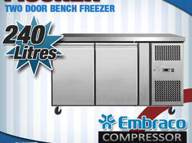 2 DOOR BENCH FREEZER EURO - EBF02-SS