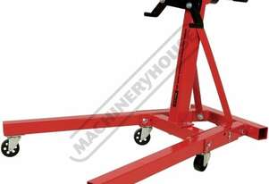 HES-907F Engine Stand - 907kg Capacity 5 x Swivel Caster Wheels & Fold Up Legs Engine Can Manually R