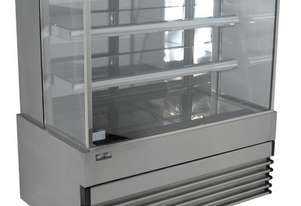 Koldtech KT.SQRCD.18 Square Glass Refrigerated Cake Display 3 Fixed Shelves - 1800mm