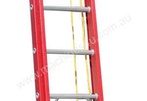 4.4 - 7.7m Fiberglass Extension Ladder