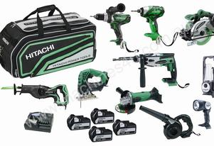 HITACHI MPS18 18V SLD LI-ION 10 PIECE MEGA PACK
