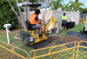 Mini Excavator Hire Tight Access 730mm Width