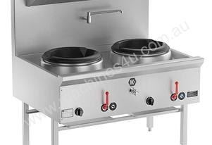 B+S UFWWK-2 K+ Two Hole Waterless Wok Table