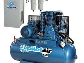 K50 Industrial Pilot Air Compressor & Refrigerated Air Dryer Package Deal 268 Litre / 10hp 39.6cfm / - picture0' - Click to enlarge
