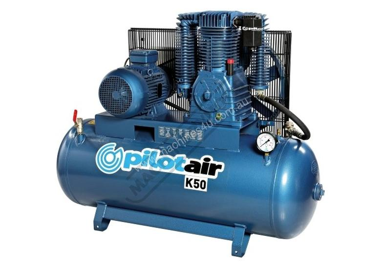 K50 Industrial Pilot Air Compressor & Refrigerated Air Dryer Package Deal 268 Litre / 10hp 39.6cfm /