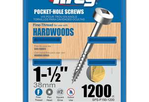Kreg Pocket Screws 1-1/2 Fine Thread Pan Head 6g - 1000pc