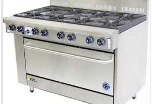 Goldstein 8 Burner Gas Top With Electric High Speed Oven