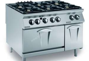 Mareno ANC9FE-12G44 6 Gas Burners On Electric Oven