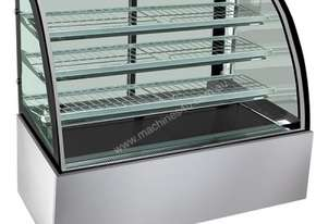 F.E.D. H-SL830 Bonvue Heated Curved Glass Food Display - 900mm