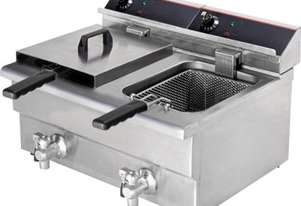 F.E.D. BEF-172V Double Benchtop Electric Fryer