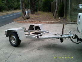 HD single axle galvenised  trailer , for gensets etc , - picture0' - Click to enlarge