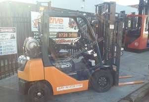 TOYOTA 8FG20 FORKLIFT 2011 MODEL LOW HRS 3.7m Lift