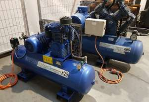 USED AIR COMPRESSORS - PILOT K25/K50/K60 - SALE TO 29/6. PACKAGED COMPRESSORS. AIR DRYERS/TANKS etc